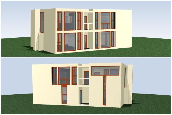 Bloques cad autocad arquitectura download 2d 3d dwg for Casas en 2d