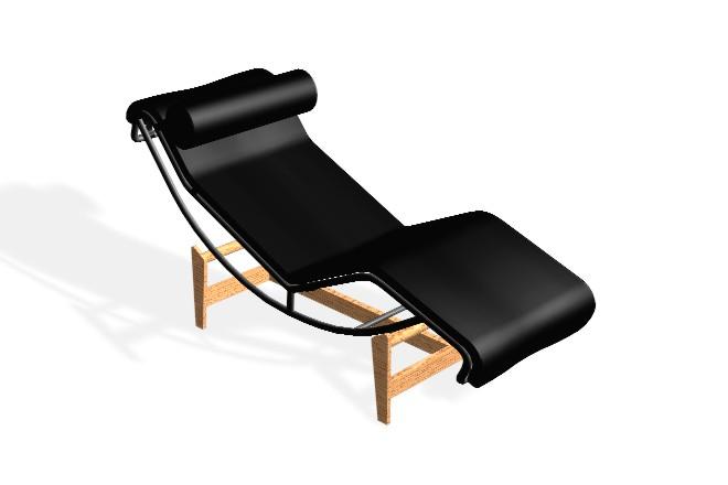 Bloques cad autocad arquitectura download 2d 3d dwg for Dimension chaise longue