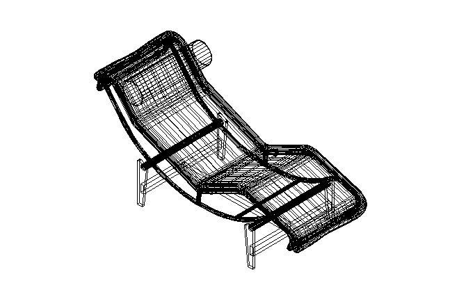 Chaise Longue Corbusier Dwg on chaise sofa sleeper, chaise furniture, chaise recliner chair,