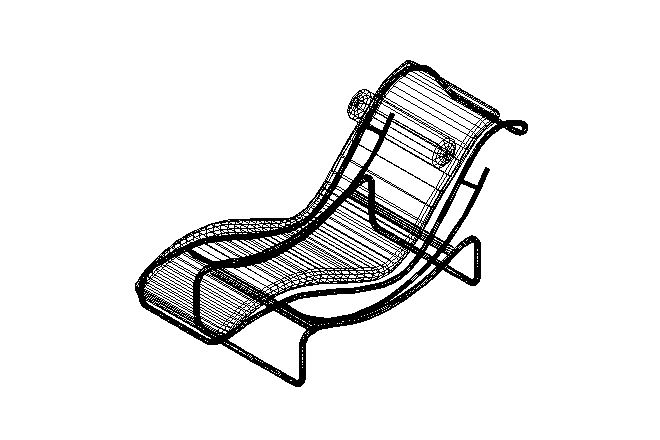 Bloques cad autocad arquitectura download 2d 3d dwg for Chaise longue le corbusier wikipedia