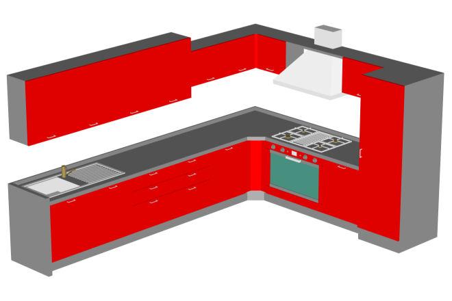 Cocina industrial bloque autocad for Bloques autocad cocina