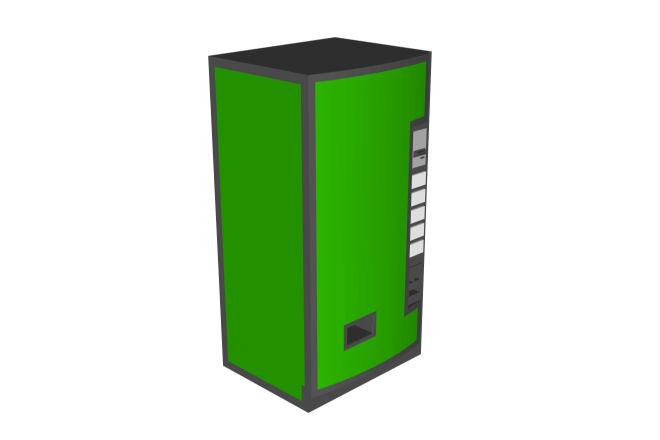 vending machine cad block