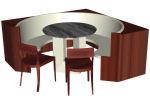y mesa en madera