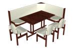 y mesa de madera