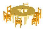 - Mesa y sillas para Jard�n de infancia