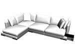 corner with cushions