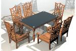 - Mesa y 6 sillas