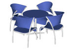 - Round table and chairs