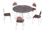with round table and 4 5 chairs