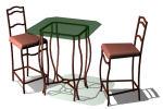 con sillas de madera
