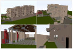 - Set of houses