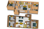 - 3 dormitorios y amoblada