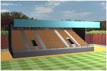 o tribuna en campo de fútbol